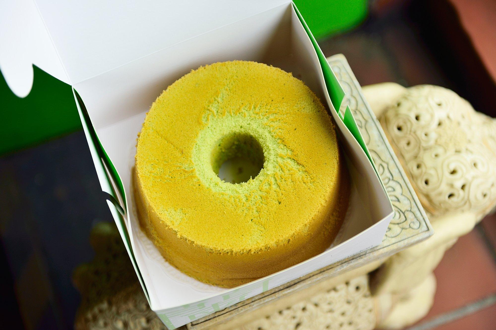 Somebody say pandan chiffon cake?